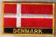 Denmark Embroidered Flag Patch, style 09.